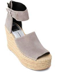 Dolce Vita - Women's Straw Suede Platform Wedge Espadrille Sandals - Lyst