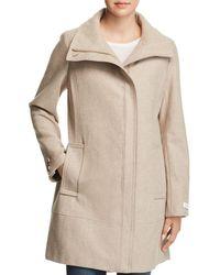 Calvin Klein - Seamed Bouclé Coat - Lyst