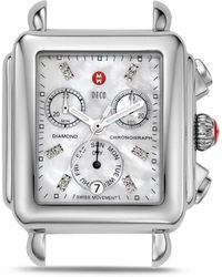 Michele - Deco Day Diamond Watch Head - Lyst