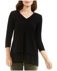 Vince Camuto - Mixed Media Top - Lyst