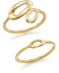 Ippolita - Set Of 2 Mini Cherish 18k Gold Rings - Lyst