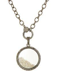 Ela Rae - Sterling Silver & Diamond Circle Pendant Necklace - Lyst