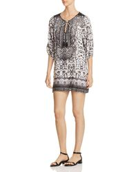 Tolani - Printed Peasant Dress - Lyst