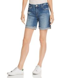 Joe's Jeans - Roll-up Denim Shorts In Lannah - Lyst