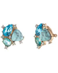 Carolee - Cluster Stud Clip-on Earrings - Lyst