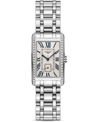 Longines - Stainless Steel Bracelet Rectangle Watch - Lyst