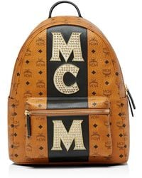 MCM - Stark Stripe Stud Backpack - Lyst