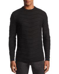 Emporio Armani - Zig-zag Ribbed Pullover Sweater - Lyst