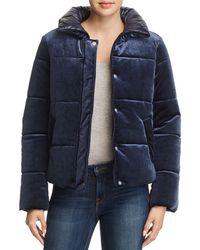 Aqua - Velvet Puffer Jacket - Lyst