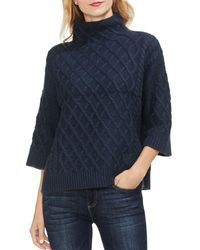 Vince Camuto - Cable Stitch Funnel Neck Sweater - Lyst
