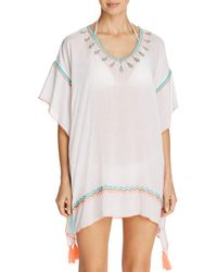 Surf Gypsy - Embroidered Poncho Swim Cover-up - Lyst