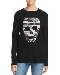 Aqua - Camo Skull Cashmere Sweater - Lyst