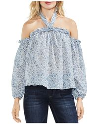 Vince Camuto - Whisper Ditsy Floral Halter-strap Top - Lyst