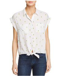 Beach Lunch Lounge - Pineapple Print Tie-waist Shirt - Lyst