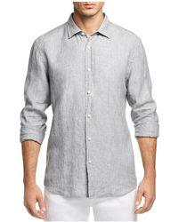 Bloomingdale's - Linen Regular Fit Button-down Shirt - Lyst