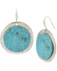 Robert Lee Morris - Turquoise Disc Drop Earrings - Lyst
