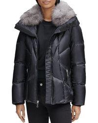 Andrew Marc - Naya Fox Fur Trim Short Down Coat - Lyst