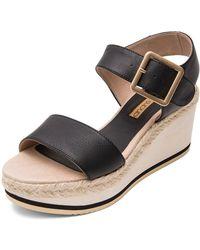 Andre Assous - Women's Carmela Leather Platform Wedge Sandals - Lyst