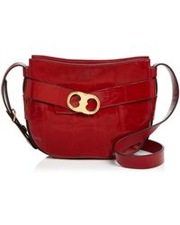 b213c7e36734 Tory Burch Gemini Link Chain Snake-embossed Leather Shoulder Bag in ...