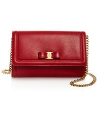 Ferragamo - Miss Vara Score Leather Mini Bag - Lyst