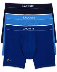 Lacoste - Stretch Boxer Briefs - Pack Of 3 - Lyst