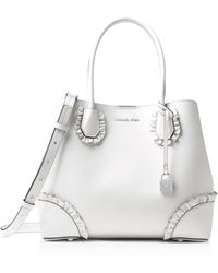 MICHAEL Michael Kors - Mercer Gallery Centre Zip Medium Leather Tote - Lyst
