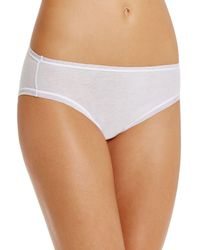 Fine Lines - Pure Cotton Hi-cut Briefs - Lyst