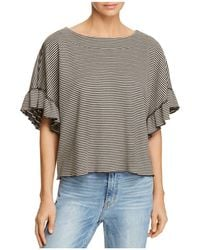 Ella Moss - Reversible Striped Cropped Top - Lyst
