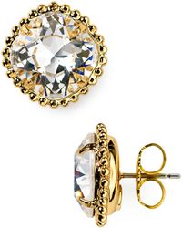 Sorrelli - Round Crystal Stud Earrings - Lyst