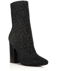 Kendall + Kylie | Hailey Sparkle Knit Sock Boots | Lyst