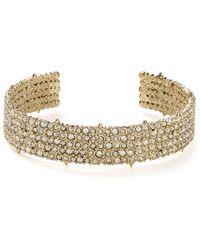 Alexis Bittar - 10k Gold & Rhodium Crystal Pavé Accent Cuff - Lyst
