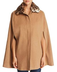 Helene Berman - Faux Fur-collar Cape - Lyst