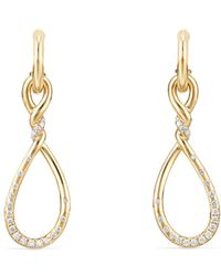 David Yurman - Continuance Medium Drop Earrings With Diamonds In 18k Gold - Lyst