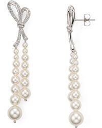 Nadri - Marion Bow Strand Earrings - Lyst