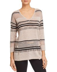 Avec - Mixed Stripe Sweater - Lyst
