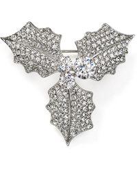 Nadri - Jolly Mistletoe Pin - Lyst