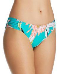 Trina Turk - Shangri La Floral Side Shirred Hipster Bikini Bottom - Lyst