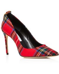 Brian Atwood - Women's Voyage Pointed Toe Plaid High-heel Pumps - Lyst