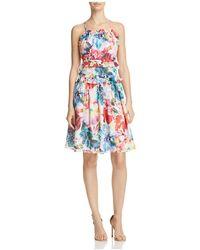 Chelsea and Walker - Amilia Printed Silk Dress - Lyst