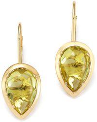 Bloomingdale's - Teardrop Lemon Quartz Drop Earrings In 14k Yellow Gold - Lyst