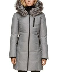 SOIA & KYO - Christy-fx Signature Brushed Down Slim Fit, Mid-length Coat - Lyst