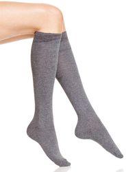 Hue - Flat Knit Knee Socks - Lyst