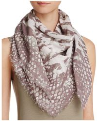 Fraas - Multi Animal Square Scarf - Lyst