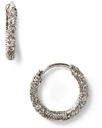 Nadri - Pavé Huggie Hoop Earrings - Lyst