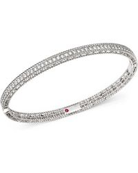 Roberto Coin - 18k White Gold Symphony Braided Bangle Bracelet With Diamonds - Lyst