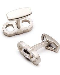 Ferragamo - Double Emblem Cufflinks - Lyst