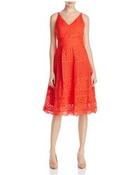 Adelyn Rae - Laureen Lace Fit-and-flare Dress - Lyst