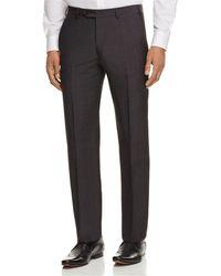 Armani - Crosshatch Print Regular Fit Trousers - Lyst
