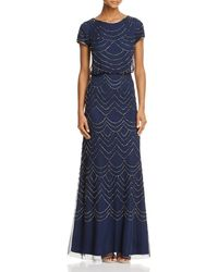 Adrianna Papell - Beaded Blouson Gown - Lyst