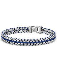 David Yurman - Woven Box Chain Bracelet In Blue - Lyst